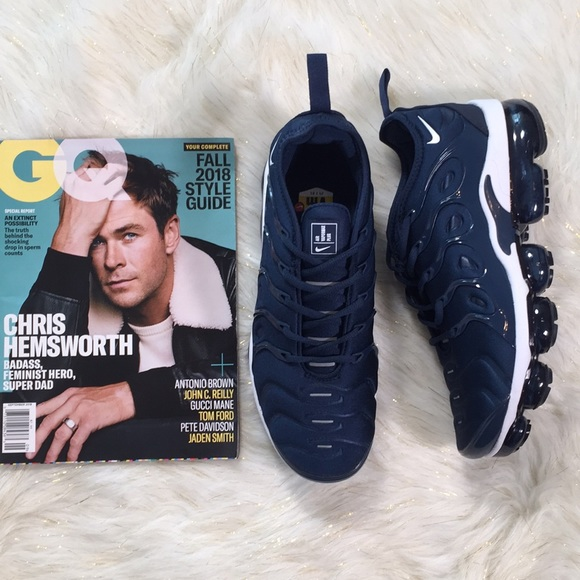 the latest 6d177 37eac NEW!! Nike Air VaporMax Plus Navy White Size: 10